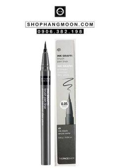 Bút dạ kẻ mắt không trôi Ink Graffi Brush Pen Liner The Face Shop