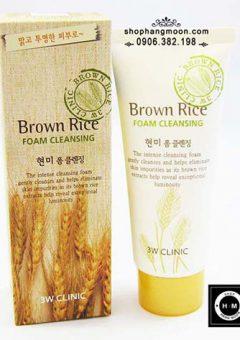 Sua-rua-mat-gao-nau-Brown-Rice-Foam-Cleansing-3w-clinic (7)