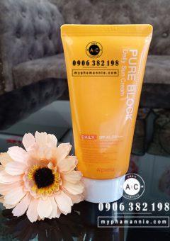Kem chống nắng A'pieu Pure Block Natural Sun Cream SPF45/PA+++ 50ml