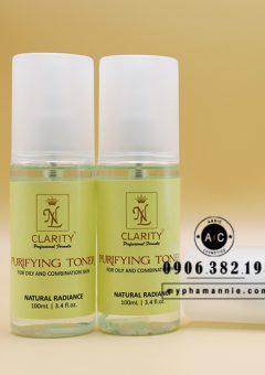 Dung dịch tẩy trang xịt khoáng 3in 1 cho da dầu mụn - Clarity nhãn hiệu xanh