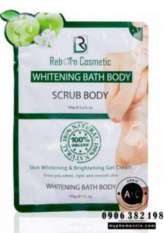 Set tắm trắng men táo Whitening Bath Body Reborn