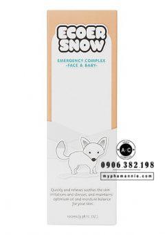 Kem Dưỡng Cho Bé Ecoer Snow Emergency Complex CareCella