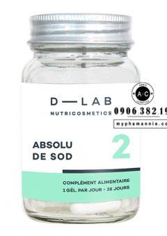 Viên uống chống nắng nội sinh Pure SOD D-Lab