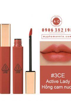 Son Kem 3CE Cloud Lip Tint - Active Lady (Hồng cam nude)