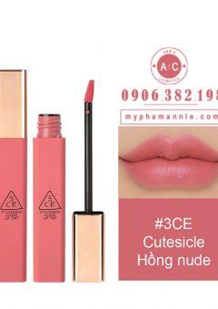Son Kem 3CE Cloud Lip Tint - Cutesicle (Hồng nude)