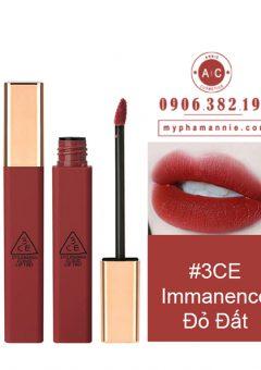 Son Kem 3CE Cloud Lip Tint - Immanence (Đỏ đất)