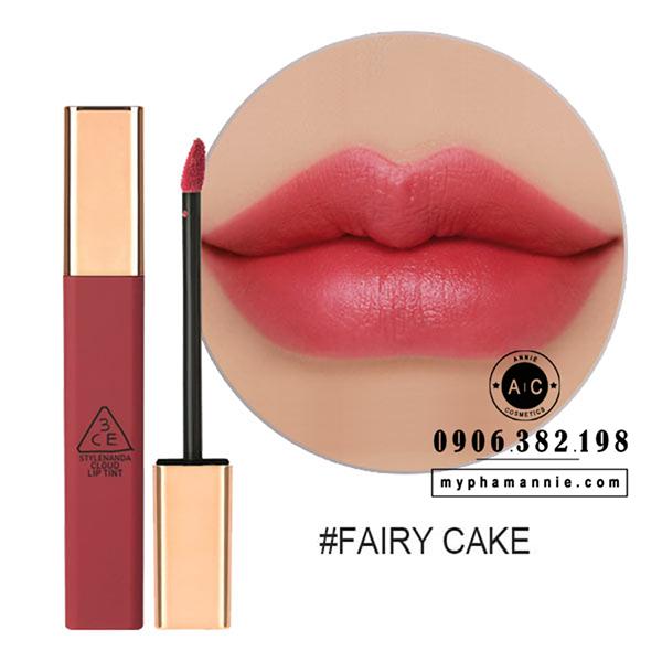 Son Kem 3CE Cloud Lip Tint - Fairy Cake (Hồng đất trầm)