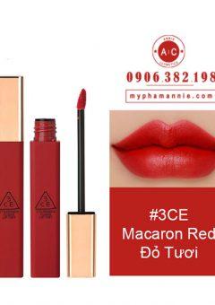 Son Kem 3CE Cloud Lip Tint - Macaron Red (Đỏ tươi)