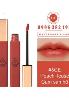 Son Kem 3CE Cloud Lip Tint - Peach Tease (Cam san hô)