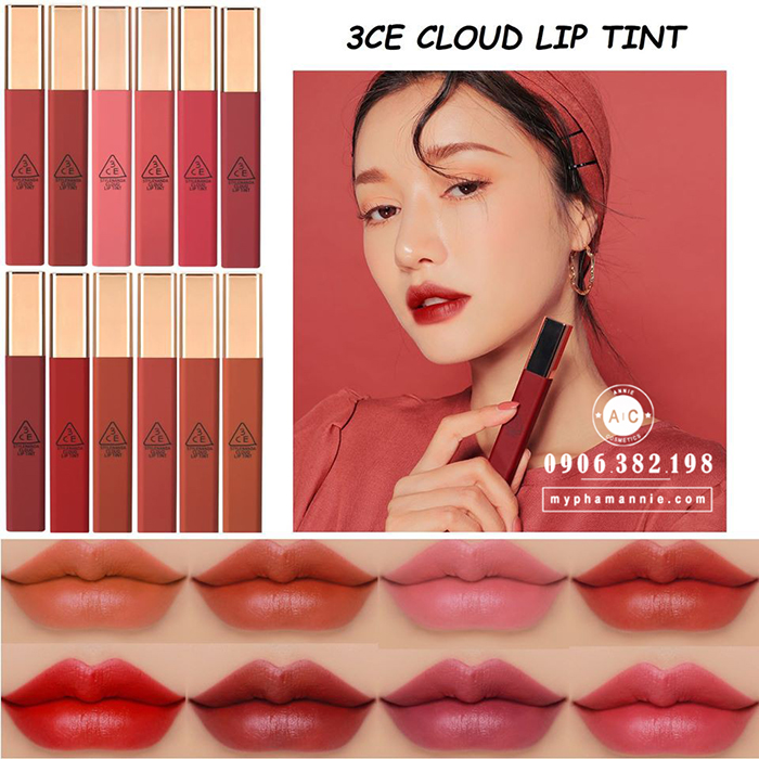 Son Kem 3CE Cloud Lip Tint (Full 12 màu)
