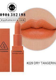 Son 3CE Lip Color Matte #229 Dry Tangerine – Cam cháy