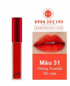Son Kem Lì Bbia Last Velvet Lip Tint Ver 7 Dating Scandal 31 – Đỏ Cam