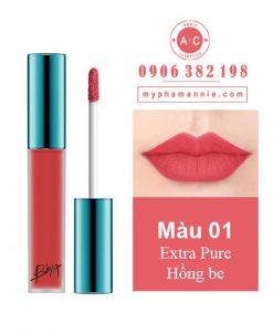 Son Kem Lì Bbia Last Velvet Lip Tint Ver 1 Extra Pure 01 – Hồng be