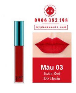 Son Kem Lì Bbia Last Velvet Lip Tint Ver 1 Extra Red 03 – Đỏ Thuần