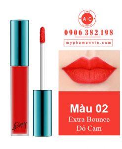 Son Kem Lì Bbia Last Velvet Lip Tint Ver 1 Extra Bounce 02 – Đỏ Cam
