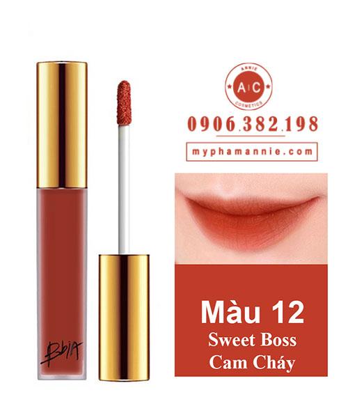 Son Kem Lỳ Bbia Last Velvet Lip Tint Ver 3 Sweet Boss 12 – Cam Cháy