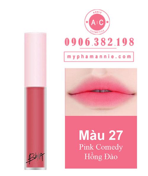 Son Kem Lì Bbia Last Velvet Lip Tint Ver 6 Pink Comedy 27 – Hồng Đào