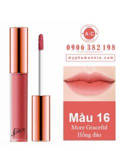 Son Kem Lì Bbia Last Velvet Lip Tint Ver 4 More Graceful 16 – Hồng đào