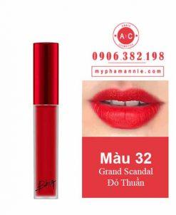 Son Kem Lì Bbia Last Velvet Lip Tint Ver 7 Grand Scandal 32 – Đỏ Thuần
