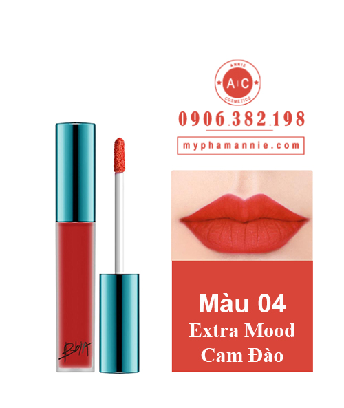 Son Kem Lì Bbia Last Velvet Lip Tint Ver 1 Extra Mood 04 – Cam Đào