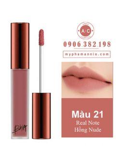 Son Kem Lì Bbia Last Velvet Lip Tint Ver 5 Real Note 21 – Hồng Nude