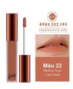 Son Kem Lì Bbia Last Velvet Lip Tint Ver 5 Mellow Note 22 – Cam Nude