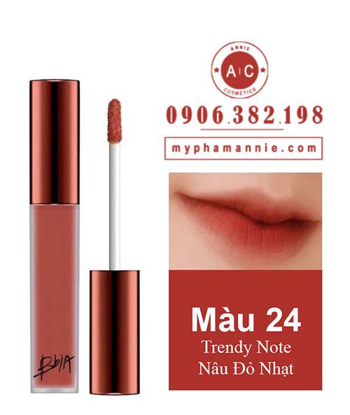 Son Kem Lì Bbia Last Velvet Lip Tint Ver 5 Trendy Note 24 – Nâu Đỏ Nhạt