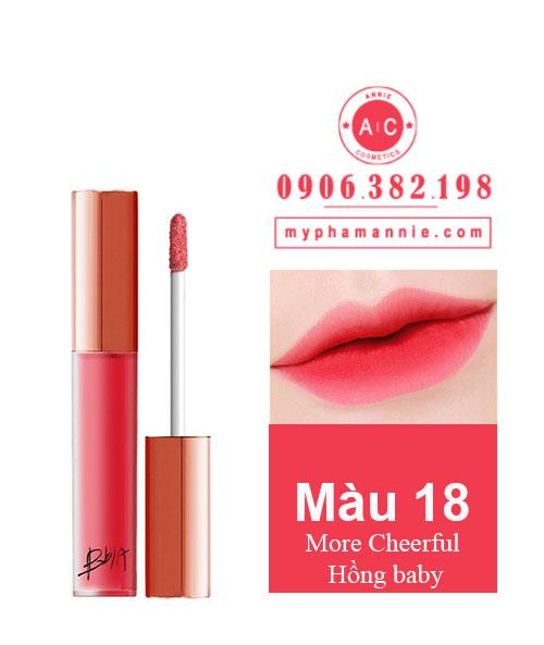 Son Kem Lì Bbia Last Velvet Lip Tint Ver 4 More Cheerful 18 – Hồng baby