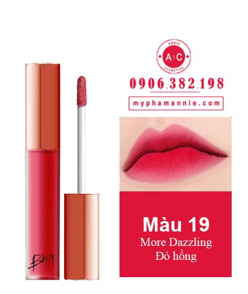 Son Kem Lì Bbia Last Velvet Lip Tint Ver 4 More Dazzling 19 – Đỏ hồng