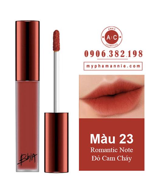 Son Kem Lì Bbia Last Velvet Lip Tint Ver 5 Romantic Note 23 – Đỏ Cam Cháy