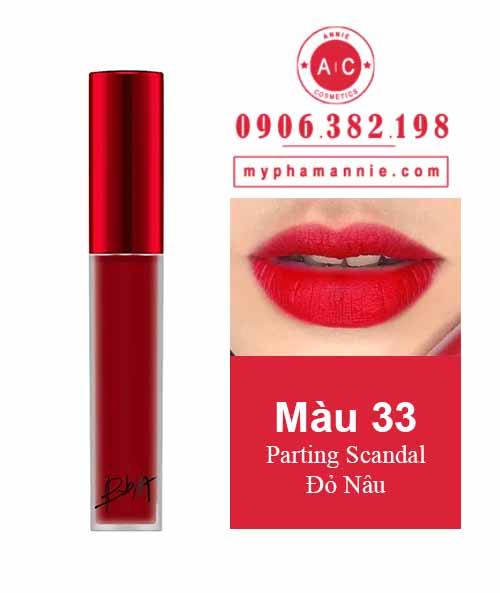 Son Kem Lì Bbia Last Velvet Lip Tint Ver 7 Parting Scandal 33 – Đỏ Nâu