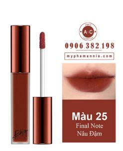 Son Kem Lì Bbia Last Velvet Lip Tint Ver 5 Final Note 25 – Nâu Đậm