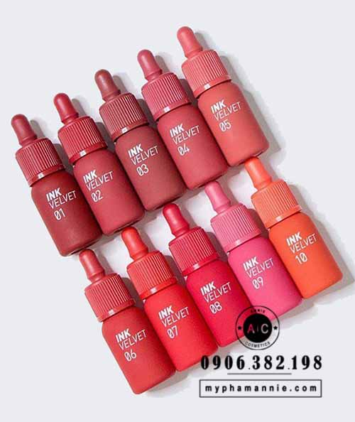Son kem lì Peripera Ink Velvet Tint 2019 (Full màu)