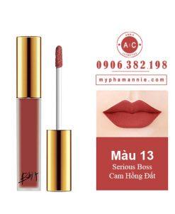 Son Kem Lỳ Bbia Last Velvet Lip Tint Ver 3 Serious Boss 13 – Cam Hồng Đất