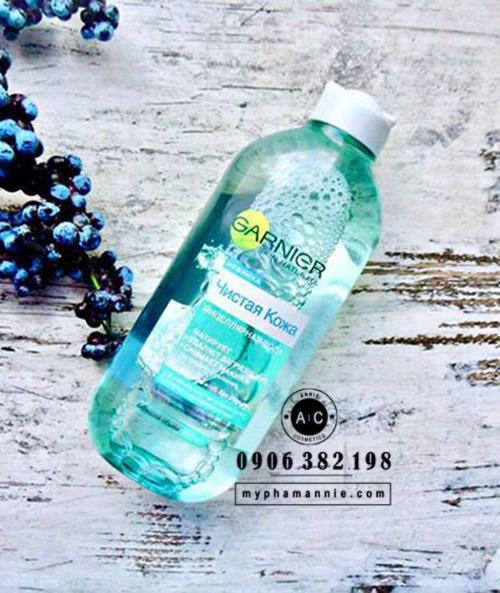 Nước tẩy trang Garnier Micellar chính hãng Nga (màu xanh)