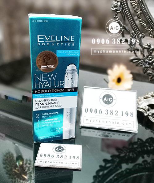 Thanh lăn mắt Eveline New Hyaluron của Nga xóa nếp nhăn vùng mắt