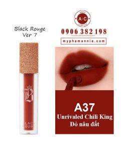 Son Black Rouge màu A37 Unrivaled Chili King của Bảng màu son Black Rouge Ver 7